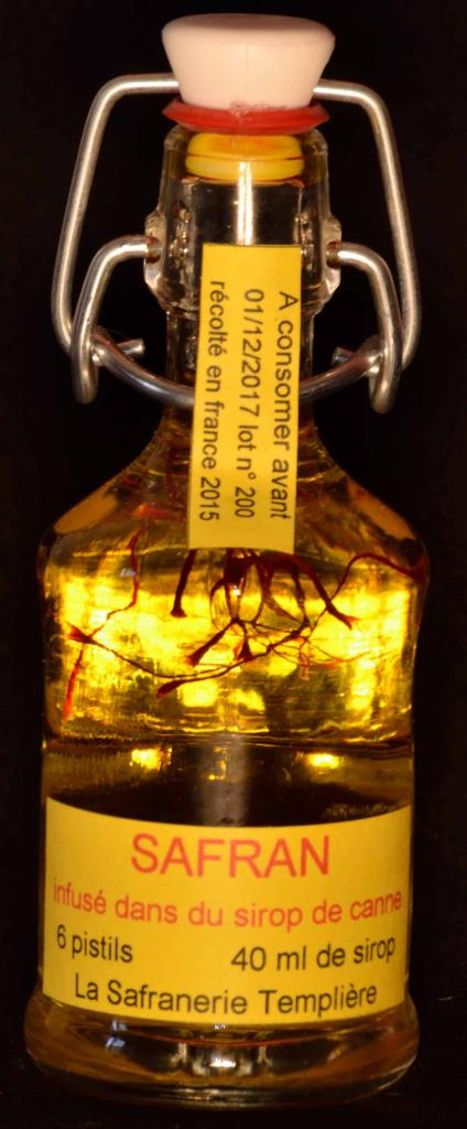 Safran de Haute Cote d'Or infusé dans le Sirop de sucre de Canne